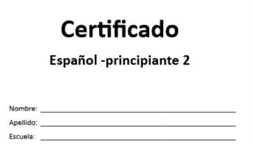 el certificado A2+