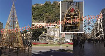 Málaga en vispera de Navidad